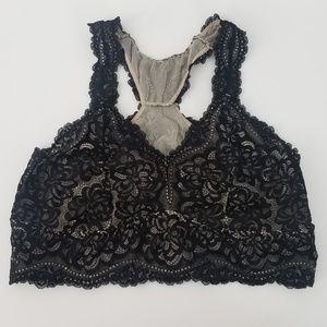 Torrid Racerback Lace Bralette Black Size 2X